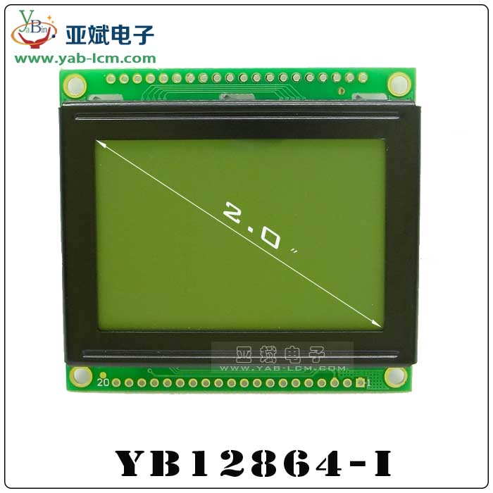 YB12864-I(YELLOW GREEN)