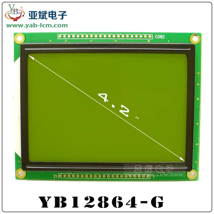YB12864-G(YELLOW GREEN)