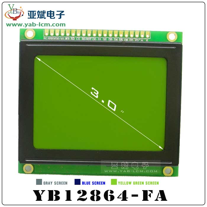 YB12864-FA(YELLOW GREEN)