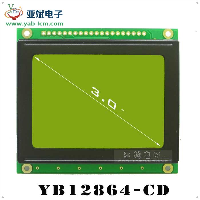 YB12864-CD(YELLOW GREEN)