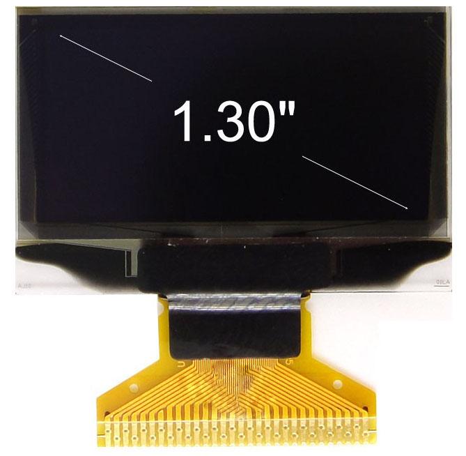 1.3寸OLED显示屏YBL2864KSWLG01/128x64点阵/并串口