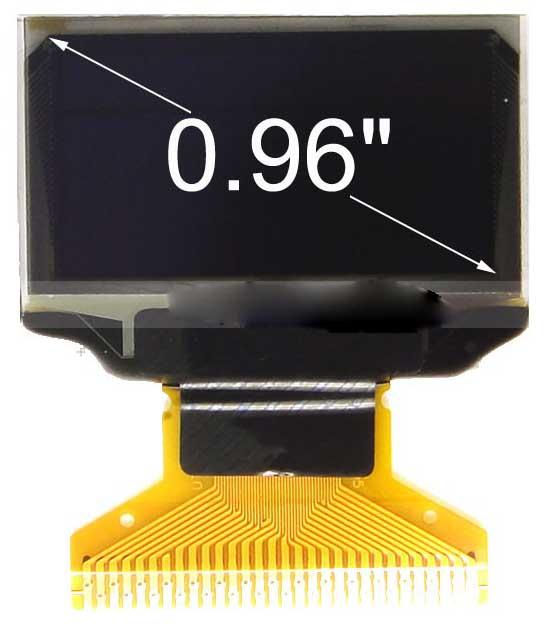 0.96寸OLED显示屏YBL2864KSWEG01//128x64点阵/并串口